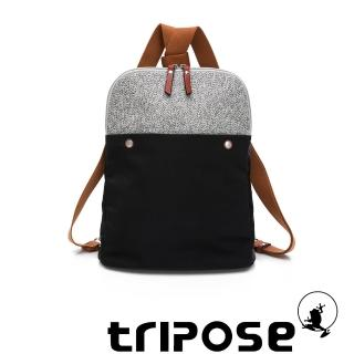 【tripose】漫遊系列斜背後背包(潮感黑)