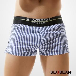 【SEOBEAN】藍色條紋男平口褲