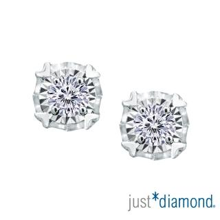 【Just Diamond】Dreamy系列 18K金鑽石耳環-愛心款