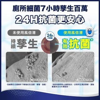 【日本風倍清】浴廁用抗菌消臭防臭劑/芳香劑 4入組(清爽皂香 2入+ 薄荷綠香2入)