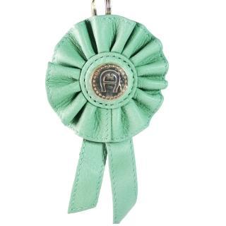 【AIGNER 艾格納】真皮革鑰匙圈(綠)