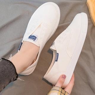 【LN】現+預 經典簡約帆布休閒鞋(懶人鞋/小白鞋)
