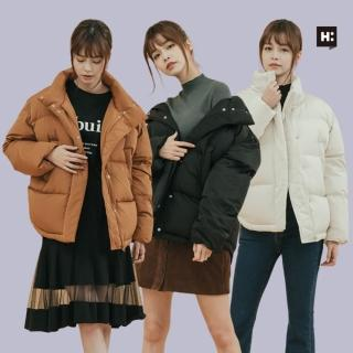 【H:CONNECT】女裝 - 精選韓系羽絨外套 / 三款任選(黑色/白色/棕色)