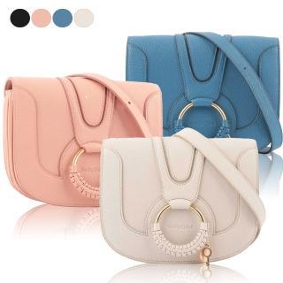 【See by Chloe'】HANA bag 小型 皮革/麂皮 斜背包(任選)