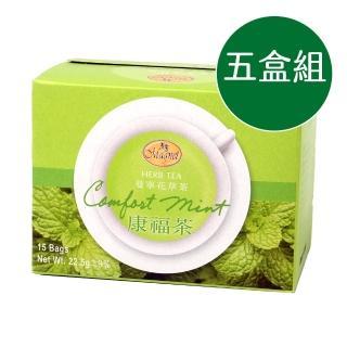 【曼寧】康福茶40入五盒組
