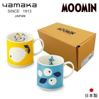 【日本山加yamaka】moomin嚕嚕米彩繪陶瓷馬克杯禮盒2入組(MM0313-13)