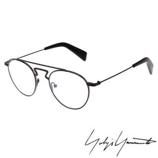 【Y-3 山本耀司】Yohji Yamamoto 復古圓框時尚光學眼鏡(霧黑-YY3004-002)