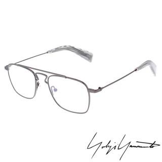 【Y-3 山本耀司】Yohji Yamamoto方型時尚造型光學眼鏡(鐵灰-YY3005-902)