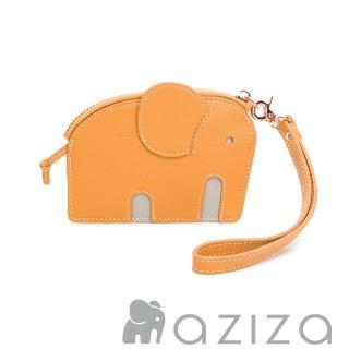 【aziza】小象造型鑰匙零錢包(秋杏黃)