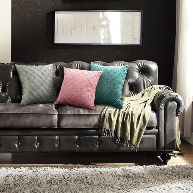 【Life+】北歐輕奢風荷蘭絨抱枕(3色)/