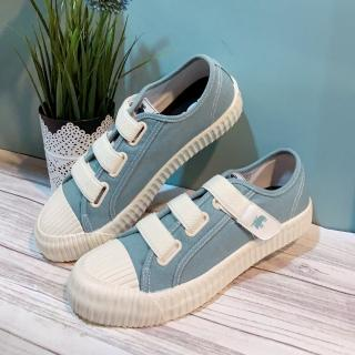 【moz】瑞典 厚底駝鹿魔鬼氈帆布餅乾鞋(蘇打綠)