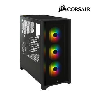 【CORSAIR 海盜船】iCUE 4000X RGB 鋼化玻璃中塔式電競機殼(黑)