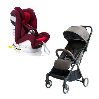 【Baby Monsters & Miniris】Miniris嬰兒手推車+Guardia汽座(0-12歲Isofix汽座+輕量嬰兒手推車跨品牌組合)