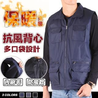 【YT shop】防風刷毛背心 保暖 多口袋 釣魚必備 三色(保暖背心)