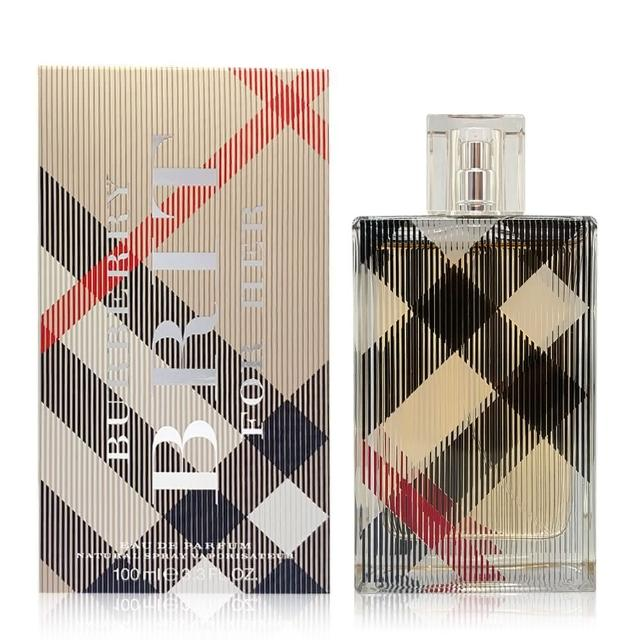 【BURBERRY 巴寶莉】BURBERRY Brit For Her 風格女性淡香精 100ml(國際航空版)