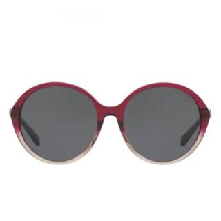 【COACH】復古都會風格圓框系列紅色漸變框灰色鏡片(8214F-547387)