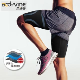 【BodyVine 巴迪蔓】超肌感貼紮大腿套 1雙 運動防護用品 大腿防護 護具 束健(CT1351)