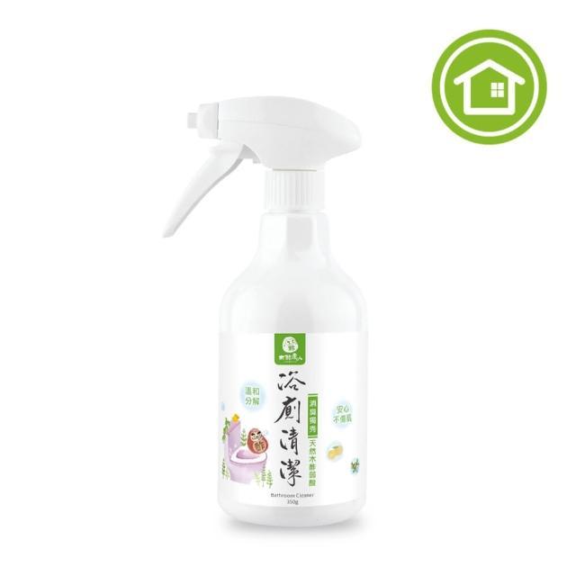 【木酢達人】天然木酢浴廁清潔噴霧350ml(水垢玻璃黃垢清潔溜溜)/