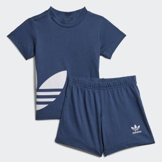 【adidas官方旗艦館 】 ADICOLOR 運動套裝 男童/女童(FM5605)