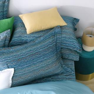 【HongYew 鴻宇】500織 SUPIMA匹馬棉 歐式壓框枕套2入(海克力斯)