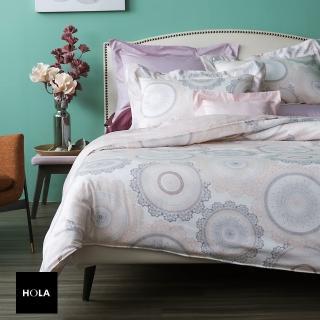 【HOLA】柯芬粉天絲床包兩用被組 雙人
