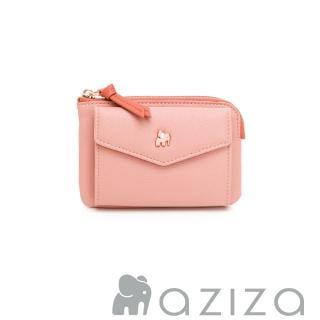 【aziza】CLARA鑰匙零錢包(柔情粉)