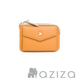 【aziza】CLARA鑰匙零錢包(秋杏黃)