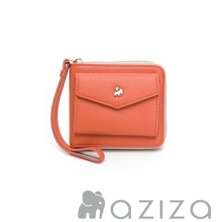 【aziza】CLARA手拎短夾(珊瑚紅)