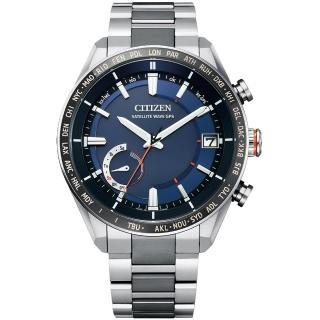 【CITIZEN 星辰】GENTS時尚男錶GPS光動能衛星對時鈦金屬手錶-43.5mm(CC3085-51L)