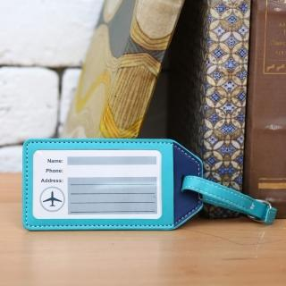 【生活工場】藍蘊皮質行李吊牌