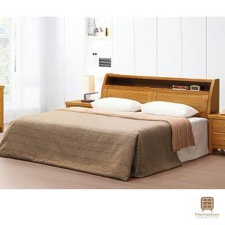 【Hampton 漢汀堡】鄧肯柚木色6尺床組(一般地區免運費/床組/雙人床)