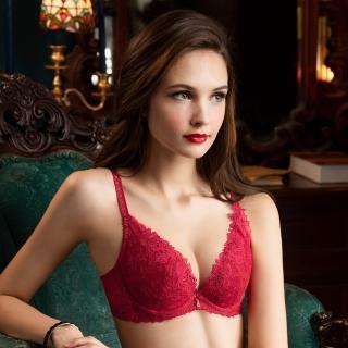【Wacoal 華歌爾】深V性感 C-E 罩杯蕾絲內衣 伊珊露絲-EB4675RB(紅)