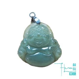 【HERA 赫拉】頂級翡翠油青種笑彌勒項鍊(吉祥如意  保平安)