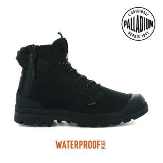 【Palladium】PAMPA EVO LTH LITE+ WP+輕量皮革拉鍊防水靴-男-黑(06466-008)