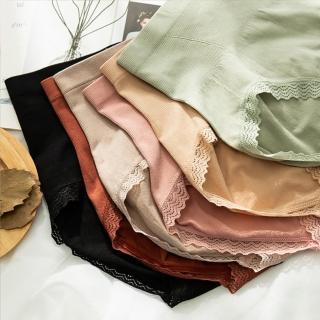 【enac 依奈川】3A級石墨烯360度無縫鎖脂高腰收腹蕾絲內褲(超值10件組-隨機)
