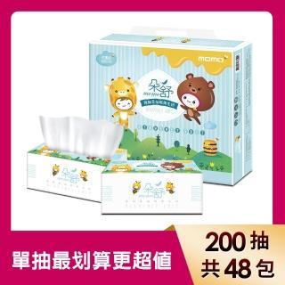 【朵舒】極細柔抽取式花紋衛生紙(200抽x12包x4袋/箱)