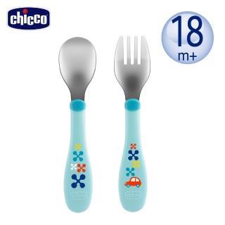 【Chicco】不鏽鋼幼兒叉匙組(3色)