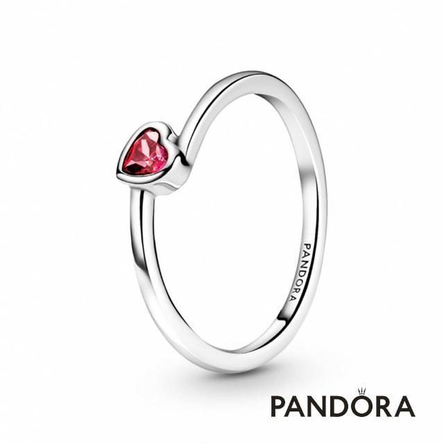 【Pandora官方直營】紅色傾心單石戒指/