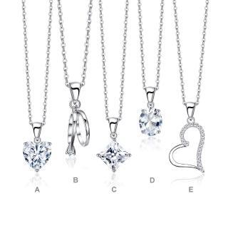 【GIUMKA】925純銀項鍊 愛心 單鑽 純銀項鍊 情人節推薦  MNS00001(銀色款)