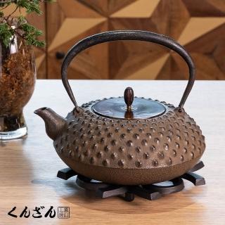 【薰山南部鐵壺】平布團型.鬼霰(日本盛岡名匠鐵壺)/