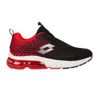 【LOTTO】男休閒運動鞋-反光 慢跑 路跑 氣墊 黑紅銀(LT1AMR3102)