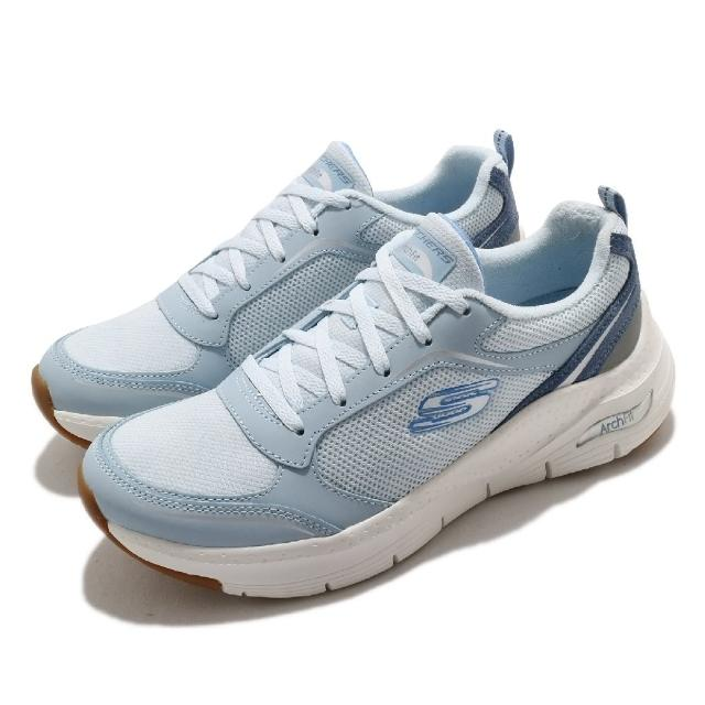 【SKECHERS】休閒鞋 Gentle Stride 健走 女鞋 Arch Fit 足科醫生推薦鞋墊 專利 藍 米(149413LTBL)