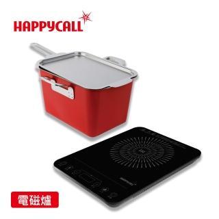 【HAPPYCALL】316不鏽鋼IH川燙油炸多用途鍋(加贈薄型IH微晶爐)