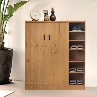 【EASY HOME】簡約北歐風收納雙門六格鞋櫃(可收納24雙鞋)