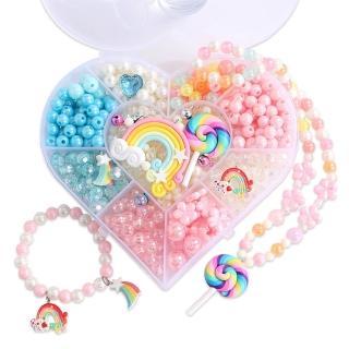 【JoyNa】2盒入-兒童DIY串珠玩具 手工編織 公主配件手作組(手環 項鍊 戒指 髮箍)