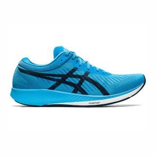 【asics 亞瑟士】Asics Metaracer 男鞋 慢跑 運動 支撐 緩衝 透氣 省力 碳纖維板 藍(1011A676-400)