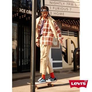 【LEVIS】男款 格紋襯衫 / Oversize寬鬆版型 / 復古學院風-人氣新品