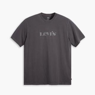 【LEVIS】男款 短袖T恤 / 寬鬆休閒版型 / 摩登復古Logo / 漂染珍珠灰-人氣新品