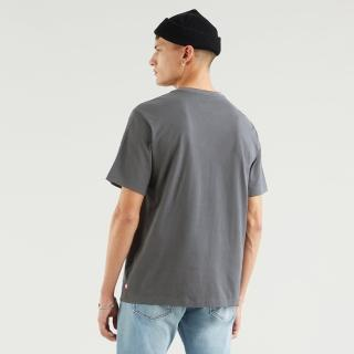 【LEVIS】男款 短袖T恤 / 寬鬆休閒版型 / 珍珠虹彩Logo / 灰-人氣新品