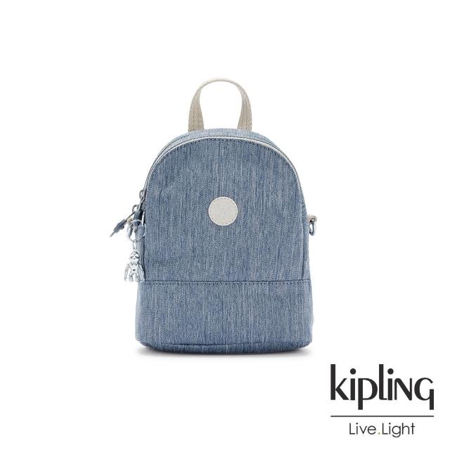 【KIPLING】質感黑經典隨身肩背斜背包-IZAN/